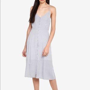 Abercrombie & Fitch Striped Midi Dress